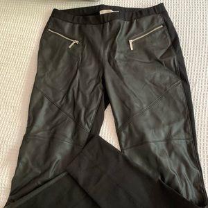 Michael Kors faux leather black pants